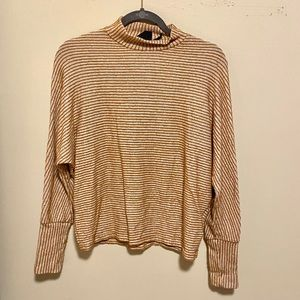 Urban Outfitters | Mock Neck Striped Top